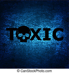 Toxic background with skull - a vintage toxic background...