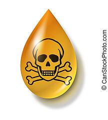 Toxic Chemical Drop - Toxic chemical drop symbol...