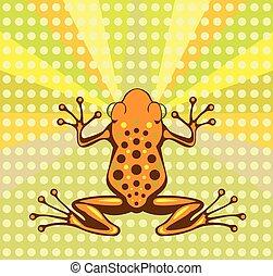Toxic Frog vector