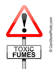 Toxic fumes concept. - Illustration depicting a sign with a...