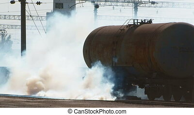 Toxic gases - Toxic fumes are emitted from the transport...