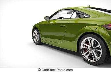 Toxic Green Car