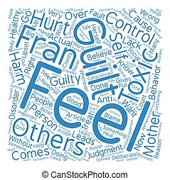 Toxic Guilt Healthy Guilt Word Cloud Concept Text Background