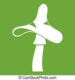 Toxic mushroom icon green