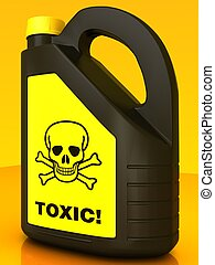 Toxic! Poison can [3D Object Series]