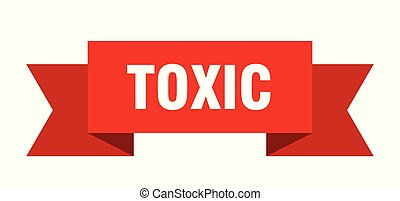 toxic ribbon. toxic isolated sign. toxic banner
