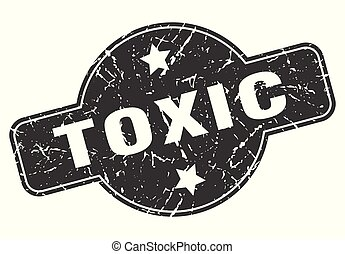 toxic round grunge isolated stamp