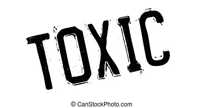 Toxic rubber stamp. Grunge design with dust scratches....