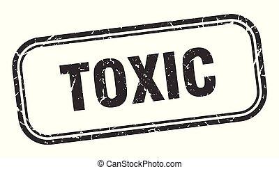 toxic stamp. toxic square grunge sign. toxic