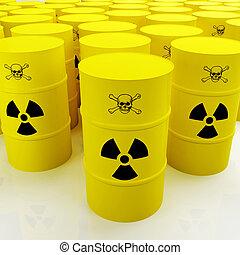 group of radioactive tank