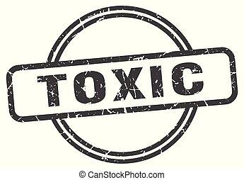 toxic vintage stamp. toxic sign
