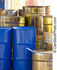 Toxic waste barrels