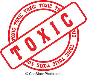 toxic word stamp in vector format