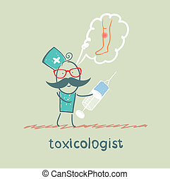 toxicologist said the poison and keeps syringe