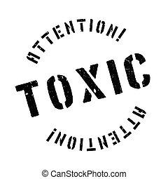 toxikus, gumi bélyegző