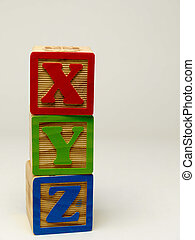 Toy ABC blocks.
