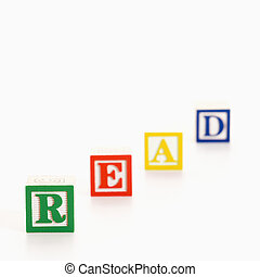 Toy alphabet blocks.