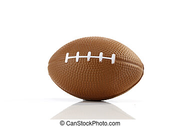 American football white background, close-up