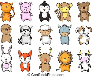 toy animals cartoon set