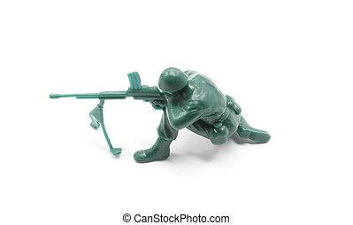 Toy Army Man Machine Gunner