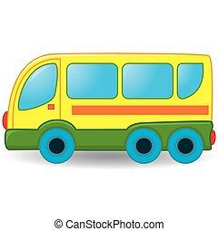 toy., autocarro, ilustração, vetorial