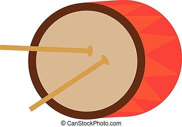 toy baby drum with chopsticks