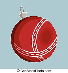 Toy Ball XMas icon. Cartoon style. Vector Illustration for Christmas day