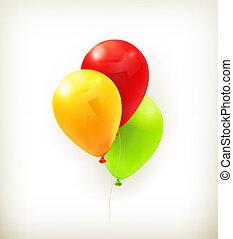 Toy balloons, vector