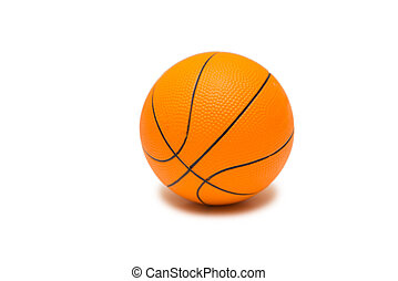 Toy basketball isolated on white background