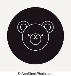 toy bear icon