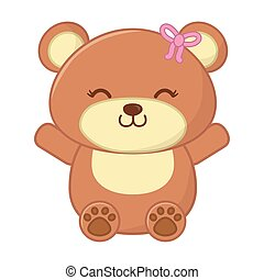 toy bear icon vector illustration