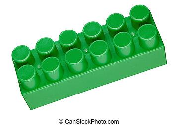 Toy block - Plastic toy block isolated on white background. ...