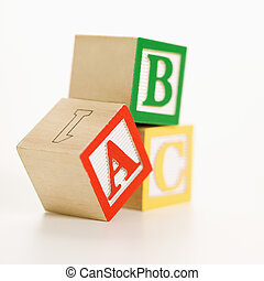 Toy blocks.