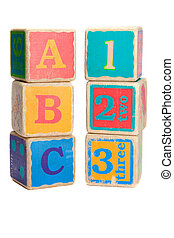 Childs toy blocks for education and learning the A B Cs