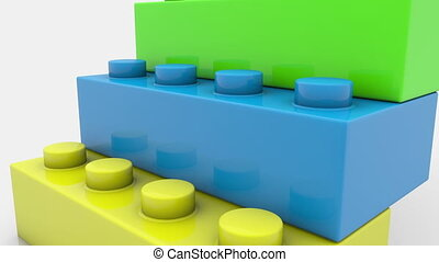 Toy blocks in various colors