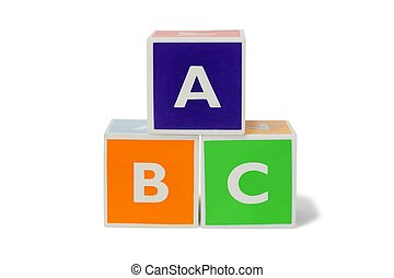 Toy blocks with letters