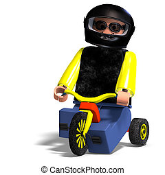 Toy Boy rides his bike - Avatar Toy Boy with helmet on...
