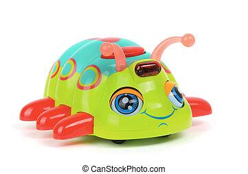 Toy bug on white background