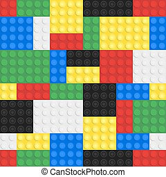 Toy Building Blocks Background