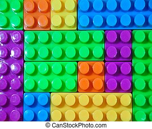Toy building colorful blocks