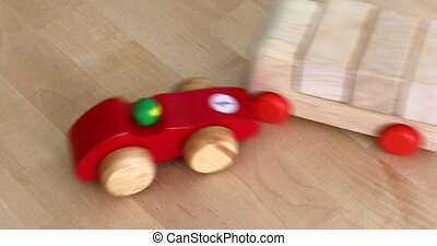 Toy Car Crash - Symbolic Car Accident With Wooden Toy Cars