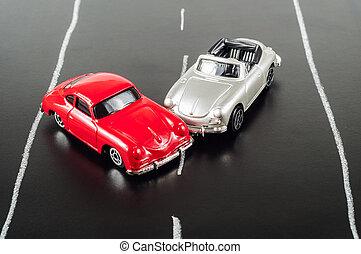 toy car crashed