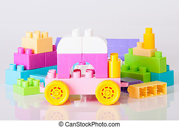 Toy car from the baby blocks