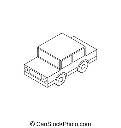 Toy car icon, isometric 3d style