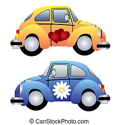 toy car - vector image of two toy cars