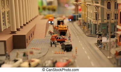 Toy City Road cars people