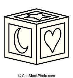 toy cube on white background