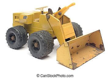 Excavator model isolated on white.