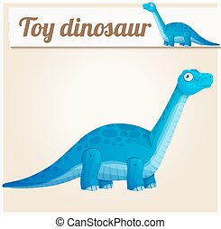 Toy dinosaur 2. Cartoon vector illustration