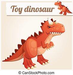 Toy dinosaur 3. Cartoon vector illustration
